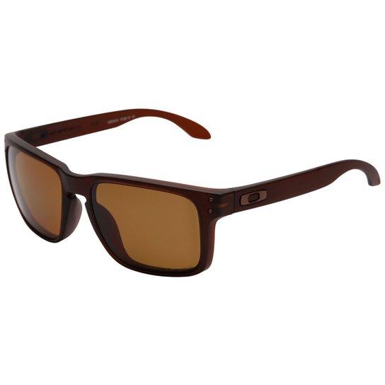 353369403f0d8 Promoção em Óculos Oakley Holbrook Polarizado Masculino - Marrom