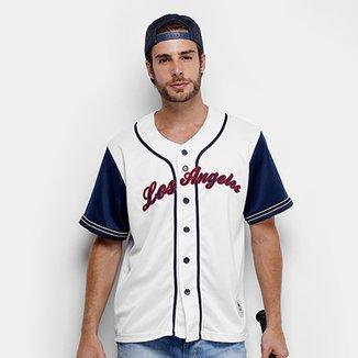 c611d5345b91e Camisa Baseball Kappa Los Angeles 17 Masculina
