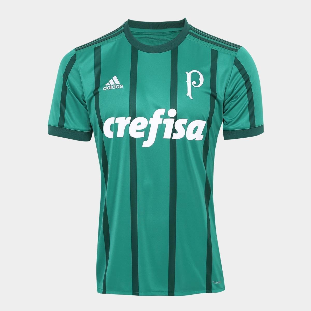 Camisa Palmeiras I 17 18 s nº Torcedor Adidas Masculina  0647d4cdf61ba