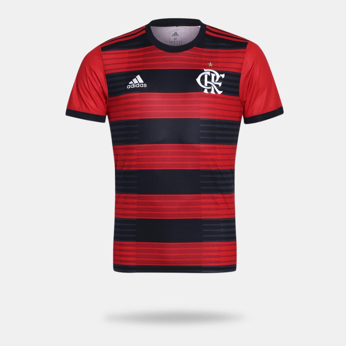 Camisa Flamengo I 2018 s n° Torcedor Adidas Masculina  24f5a2af47ddc