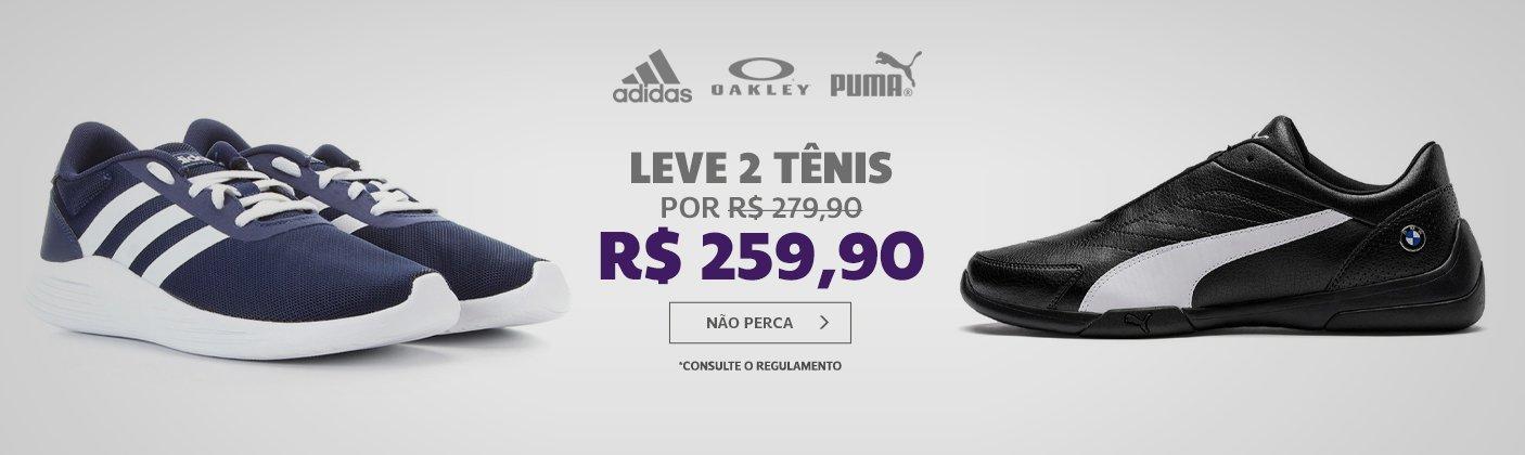 2 tênis por R$ 259,99