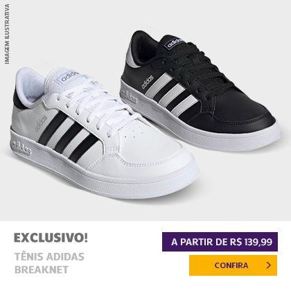 Tênis Adidas Breaknet a partir de R$ 139,99