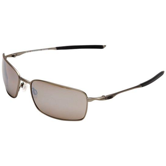 Óculos de Sol Oakley Titanium Square Wire Iridium - Compre Agora ... 43eb09c3b7f