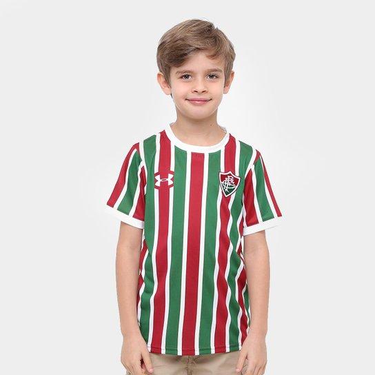 94d19349ee173 Camisa Fluminense I Infantil 17 18 s nº Torcedor Under Armour - Grená