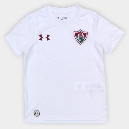 626c53fd4c Camisa Fluminense Infantil FC Away Oficial 17 18 – Torcedor Under Armour -  Branco