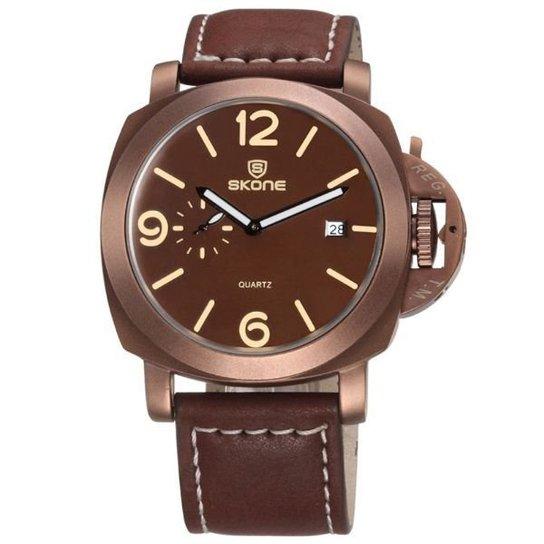 3d5eac931bb Relógio Skone Analógico 9408EG - Compre Agora