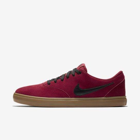 ace7c6a6c511c Tênis Nike Sb Check Solar Masculino - Vermelho e Preto - Compre ...