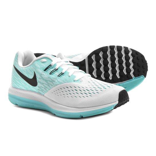 d00562af28 Tênis Nike Zoom Winflo 4 Feminino - Branco+Verde Água