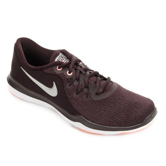 adc06e07948b9 Tênis Nike Flex Supreme TR 6 Feminino - Vinho e Prata - Compre Agora ...