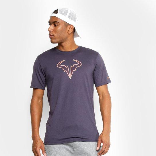 cc463e9289 Camiseta Nike Court Rafa Masculina - Marinho+Laranja