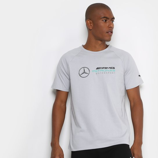 Camiseta Puma Mercedes Logo Masculina - Branco e Verde Água - Compre ... e40fd383aa0