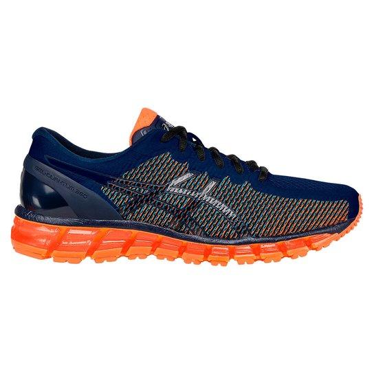 Tênis Running Asics Gel-Quantum 360 Cm - Marinho+Laranja bc65600e76a2e