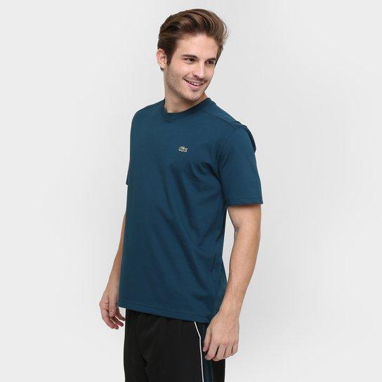 Camiseta Lacoste Gola Careca - Azul Petróleo - Compre Agora   Netshoes d558b3d22a