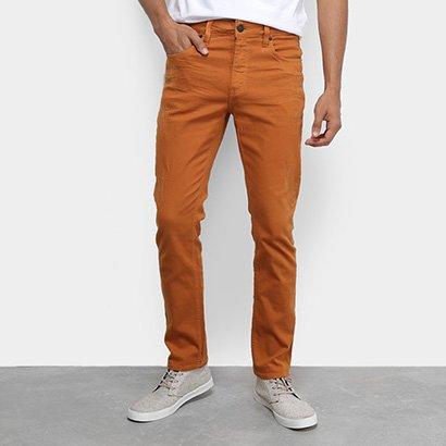 Calça Jeans Slim Calvin Klein Color Five Pockets Masculina