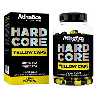 Hardcore Yellow Caps 120 Cáps - Atlhetica Nutrition