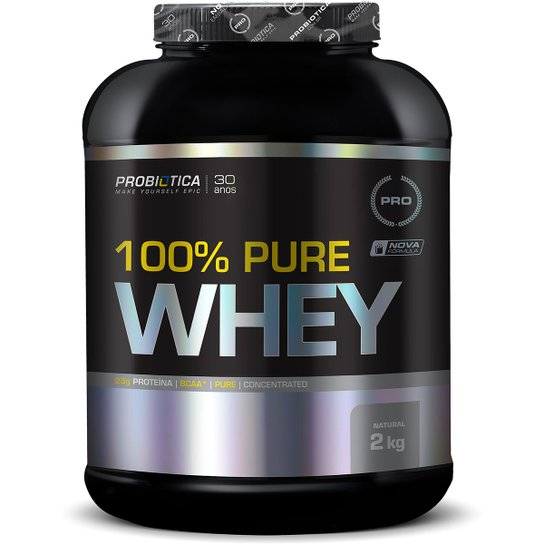 80abe82c2 Whey Protein 100% Pure Whey 2kg – Probiótica - Natural - Compre ...