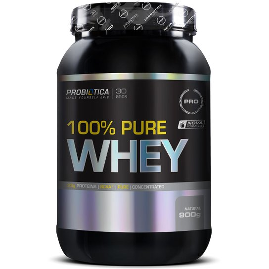 4fe0fef6a0 Whey Protein 100% Pure Whey 900g - Probiótica - Natural - Compre ...