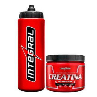 Kit Creatina Hardcore 150g + Squeeze  IntegralMédica