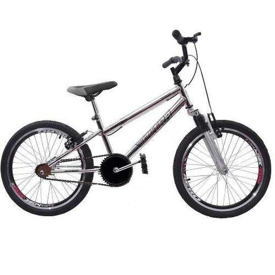 e36e1b54728b3 Bicicleta Ultra Cross Bmx Aro 20 Garfo de Suspensão V-Break Cromada -  Cromado