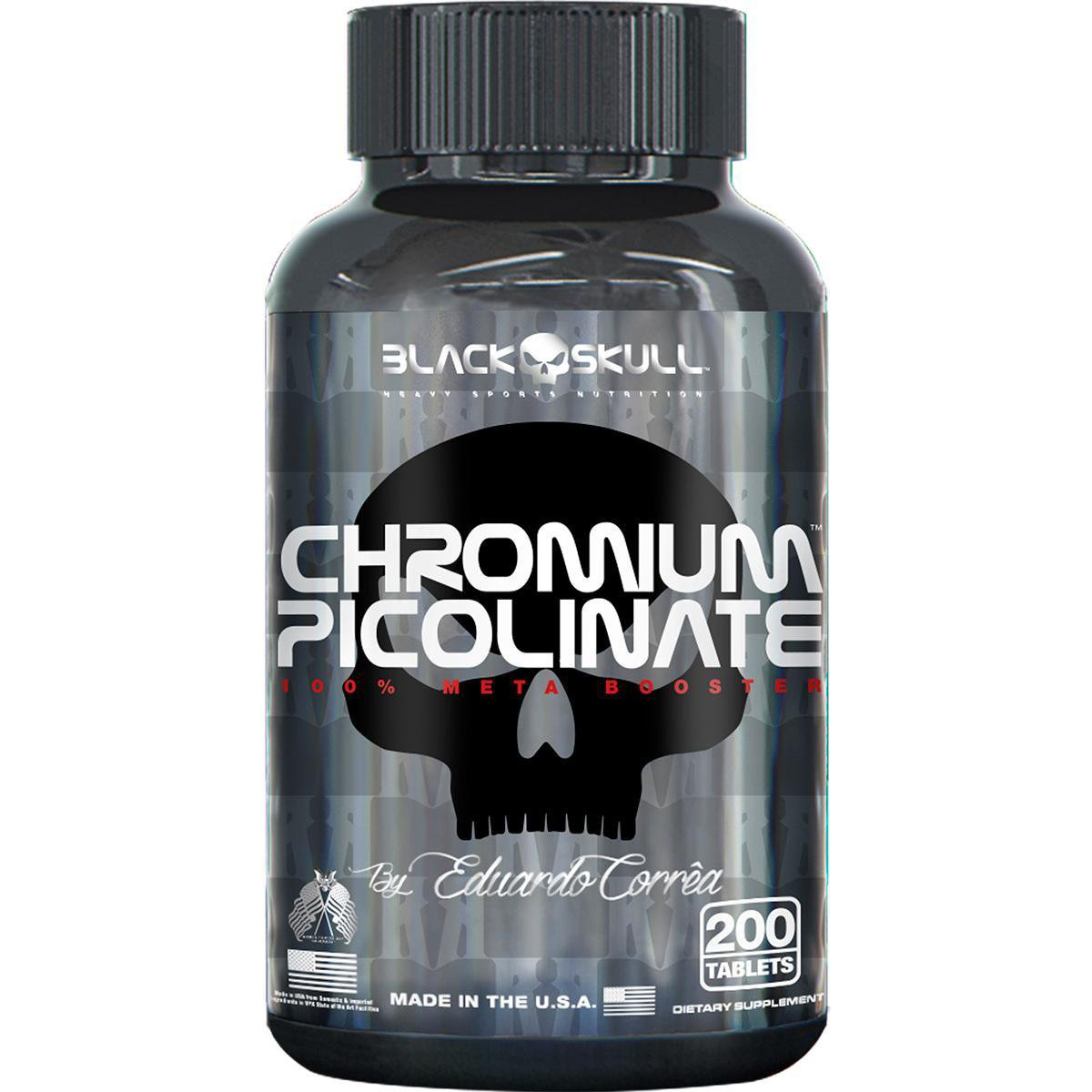 Chromium Picolinate 200 Tabs By Eduardo Corrêa - Black Skull