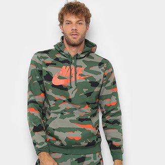 Moletom Nike Club Camo Hoodie Camuflado com Capuz Masculino fcc91c5e97817
