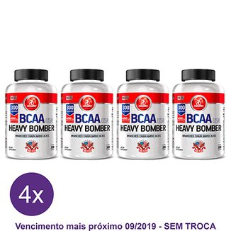 Kit 4x BCAA Heavy Bomber Midway 300 Caps