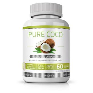 29d0b7cf57633 Pure Coco Ekobé Óleo de Coco Extravirgem 60 Cápsulas
