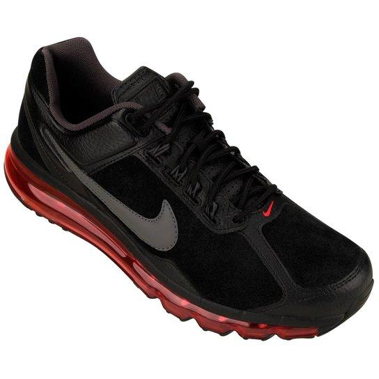 59c6e7bfeb2 Tênis Nike Air Max Leather 2013 Leather - Preto+Vermelho