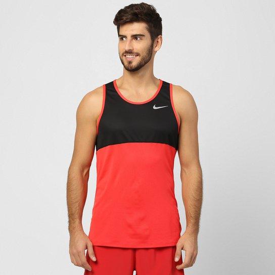 640505ee76552 Regata Nike Racer Dri-Fit Masculina - Preto+Vermelho