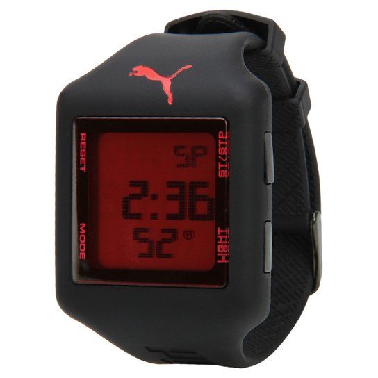 26635dc636d Relógio Puma Slide - Preto+Vermelho