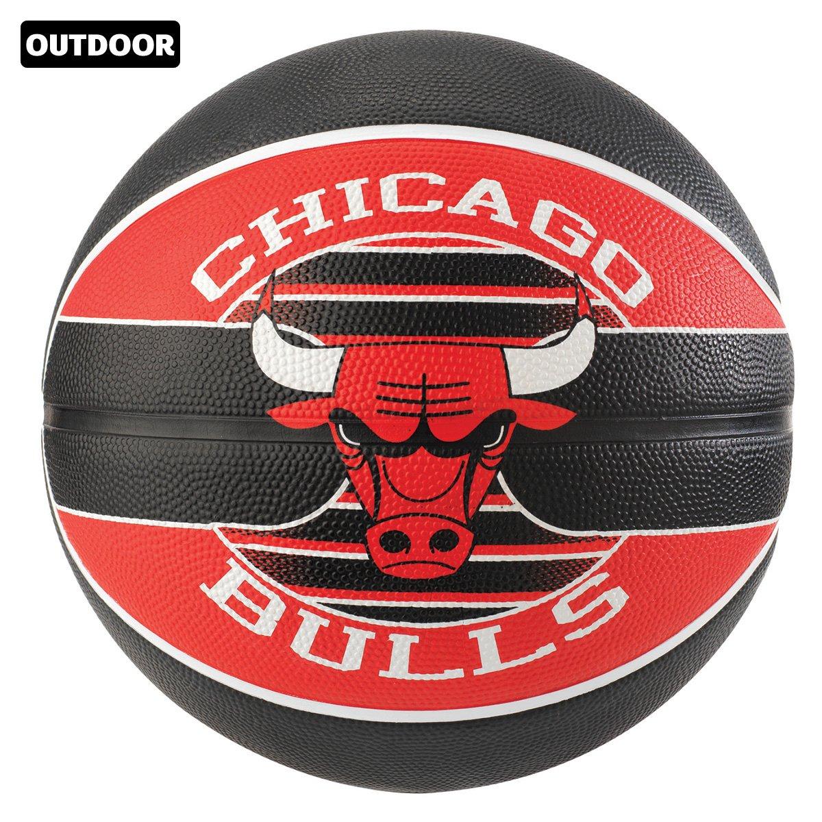 Bola de Basquete Spalding NBA Chicago Bulls Team Rubber Basketball Tam 7