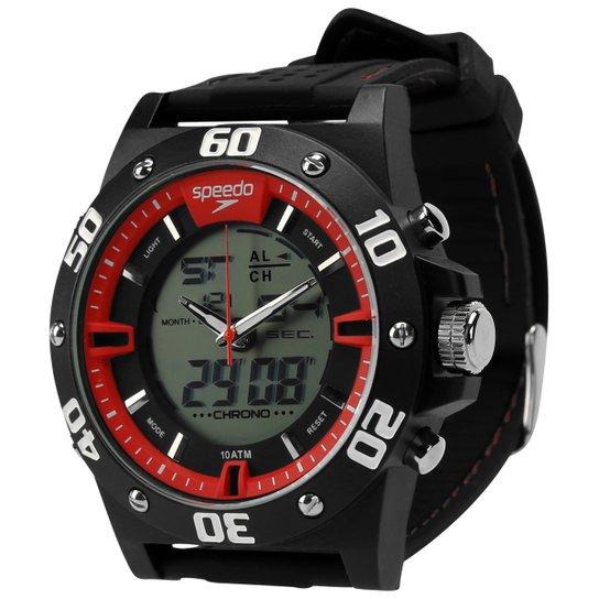 9cc5b06a89e1d2 Relógio Speedo Digital 69020G0EVNV - Preto+Vermelho