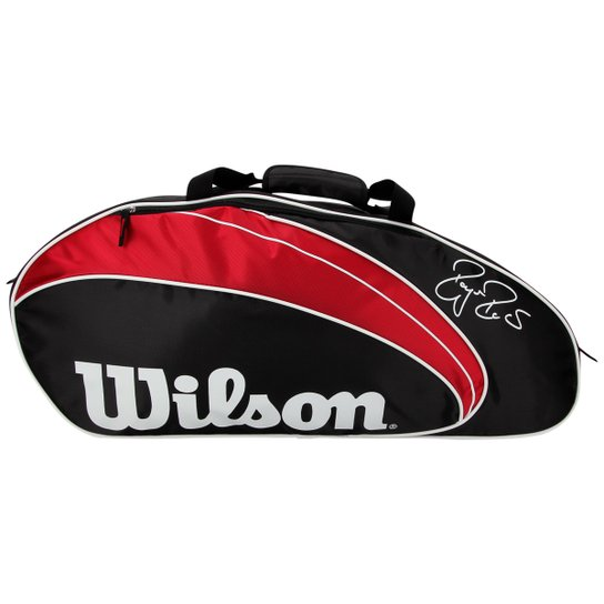 63209dd56d Raqueteira Wilson Roger Federer X3 - Preto+Vermelho
