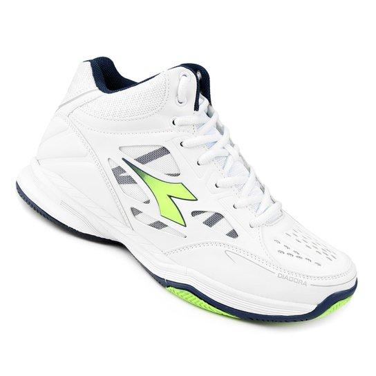 3a06f2860fc Tênis Diadora Side Out Low - Branco+Verde Limão