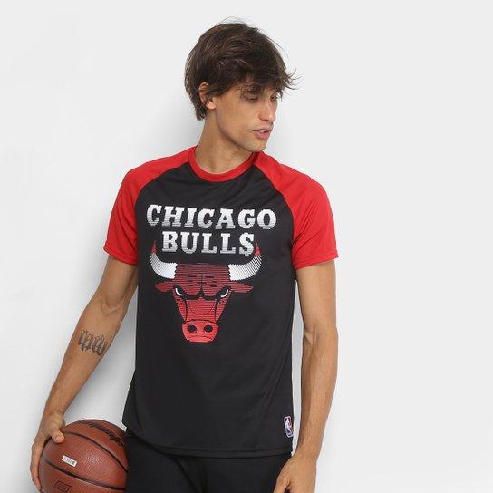 Camiseta NBA Chicago Bulls Masculina - Preto+Vermelho 4f4c5a0af60