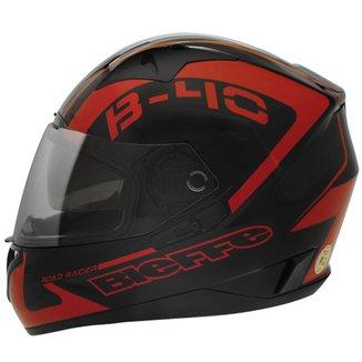 74cb1f7b3 Capacete Bieffe B-40 Road Racer Preto e Vermelho
