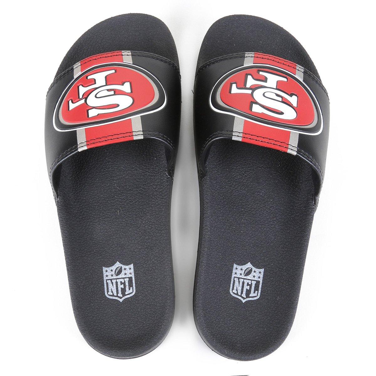 Chinelo NFL San Francisco 49ers New Era Slide Masculino