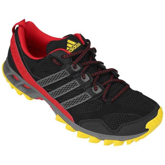 0dc1fa7b14 Tênis Adidas Kanadia 5 - Preto+Vermelho