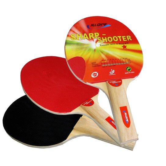 1af10ef817 Raquete p  Tênis de Mesa   Ping Pong Klopf - Preto+Vermelho