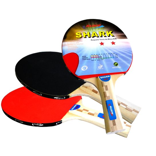 Raquete p  Tênis de Mesa   Ping Pong Klopf - Preto+Vermelho f3385a4ff05e8