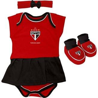 a18bce36c1 Kit Infantil 3 Peças São Paulo Torcida Baby Feminina