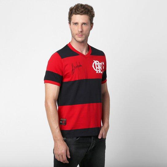 Camiseta Flamengo Retrô Andrade Masculina - Preto+Vermelho df7bc8ceaa4c2