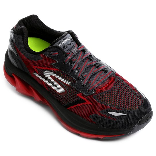 23d906a677 Tênis Skechers Go Run Ultra R Masculino - Preto e Vermelho - Compre ...