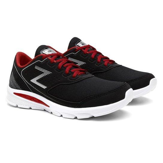 89aedbe6fb8 Tênis Zeus Casual Conforto Esporte Caminhada Masculino - Preto+Vermelho