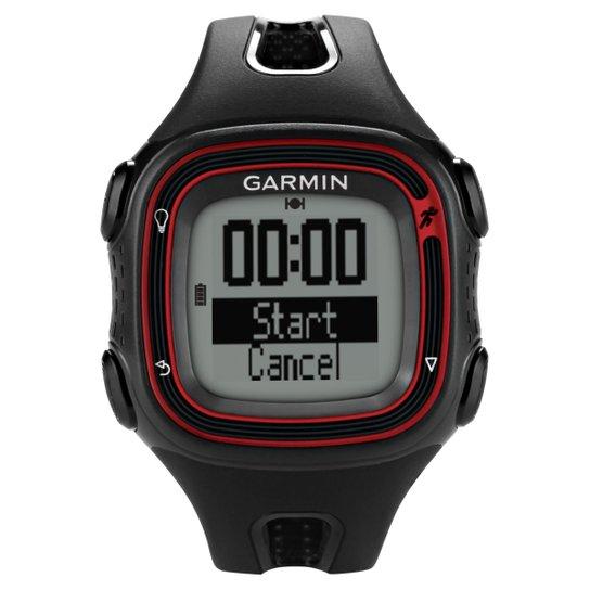e8e769f7b8f Relógio c  GPS Garmin Forerunner 10 - Preto+Vermelho. Carregando zoom.