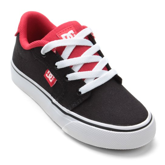 806bbae43a Tênis Infantil DC Shoes Anvil Tx La Masculino - Preto e Vermelho ...
