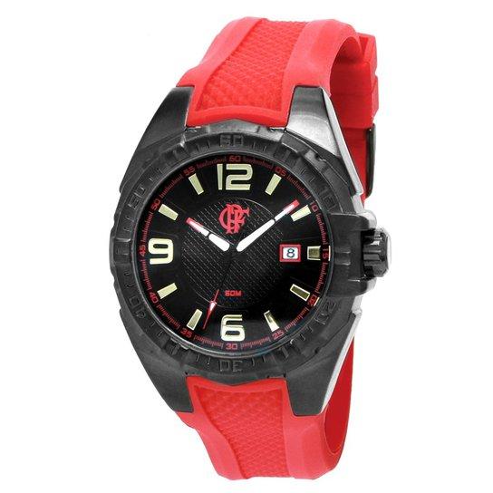 ac067264149a8 Relógio Flamengo FLA2315AA 8P - Preto e Vermelho - Compre Agora ...