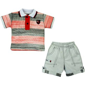 Conjunto Polo Shorts Meia Malha Oxford Menino Flamengo Reve Dor - 2 Anos 9f58ff3b81daa