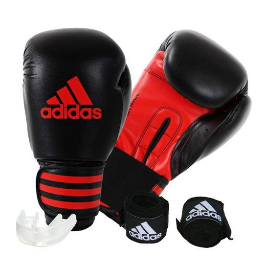 b70c4c1df Kit Luva de Boxe Muay Thay Adidas Power 100 + Bandagem 2