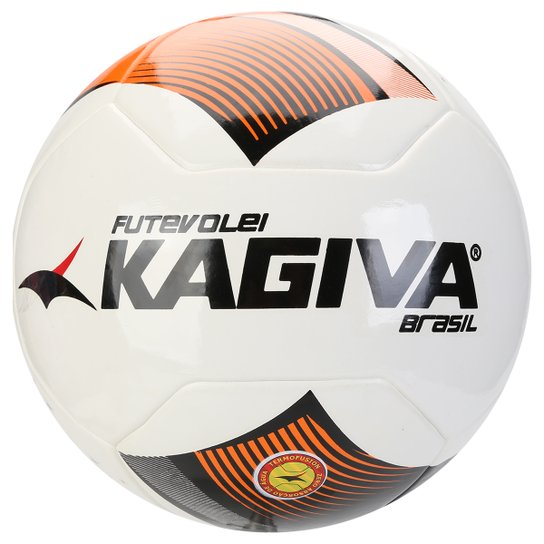 Bola Kagiva Futevôlei Brasil - Preto+Vermelho c54bfd367bc52